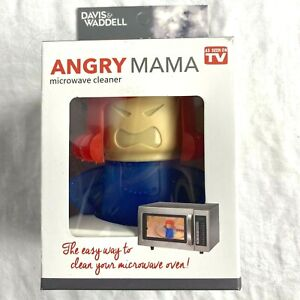 Angry Mama Microwave Cleaner Add Vinegar and Water Dishwasher Safe Red Blue