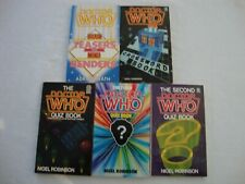 5 Doctor Who pb books fiction vintage rare Quiz, Crossword new paperbacks Unique