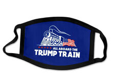 Trump Train Mask - Trump 2020 Face Protection Maga All Aboard New Sealed