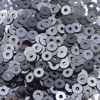 2400 Pailletten 3mm Altsilbet Rund Glatt Perlen für Basteln Nähen Deko PAI26
