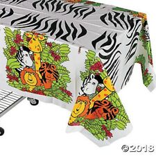 Zoo Tablecloth Animal Safari Jungle Table Cover Kids Birthday Party Decoration