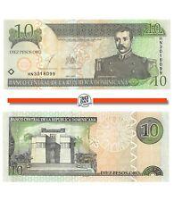 Dominican Republic 10 Pesos 2003 Unc Pn 168c