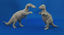 2 Marx 1970s Revised Mold Group Vintage Dark Gray Prehistoric Playset Dinosaur