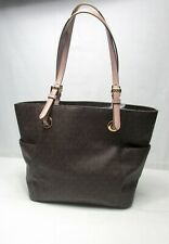MICHAEL Michael Kors Signature Jet Set Travel East West Tote Brown Taupe