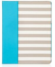 NEW Griffin iPad 4 3 2 Elan Folio Stripe Case Cover With Stand Blue White Beige