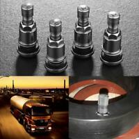 4pcs Bolt-in Stainless Steel Car Motorcycle Wheel Tire Valve Stems+Dust Caps #1