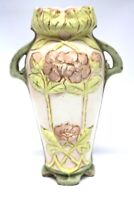 Antike Bisquitporzellan Jugendsil Vase Floral um 1910