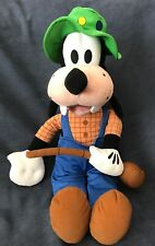 "Disney 20"" Goofy with fishing pole plush toy (Disneyland) Nwt!"