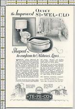 New ListingTepeco plumbing fixtures bathroom toilet 1928 magazine print ad