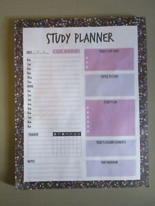 Magnetic study planner pad, pink and purple note pad