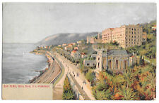 San Remo - Hotel Royal & Promenade PPC, to Miss Smith Church Hill, Congham, UK
