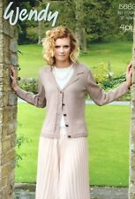 Knitting Pattern For Wendy 4ply Ladies Cardigan   Top Size ... 2967b4588
