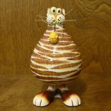 "ANIMAL ANTICS #4821-4  Brn/W CAT BOBBLE BODY 6"" NEW From Retail Store by RANGER"