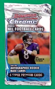 2003 Bowman Chrome NFL Football Trading Cards Factory Sealed Pack