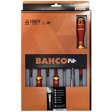 BAHCO Fit Elettricisti VDE Isolato a fessura & Cacciavite Phillips Set 7 PEZZI