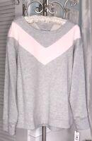 New Plus Size 3X Gray Pink Sweatshirt Tommy Hilfiger Sport Top Shirt $59