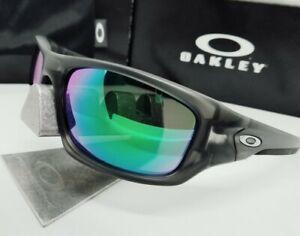 "Custom OAKLEY grey smoke ""VALVE"" + GALAXY green mirror POLARIZED sunglasses NEW!"