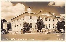 Texas Tx Postcard Real Photo RPPC LONGVIEW c1950s U.S. POST OFFICE