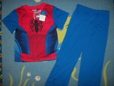 Spiderman Pajamas Sleepwear 2pc Set Boys 4 6 8 Marvel Ultimate New