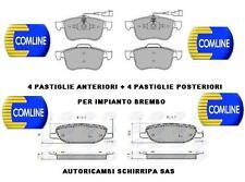 PASTIGLIE FRENO ANTERIORI + POSTERIORI ALFA 159 1.9 JTDM 120 150cv IMP. BREMBO