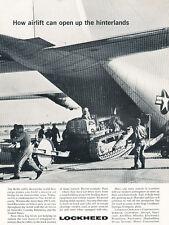 1962 Lockheed Military Tractor Aircraft  Vintage Advertisement Print Ad J477