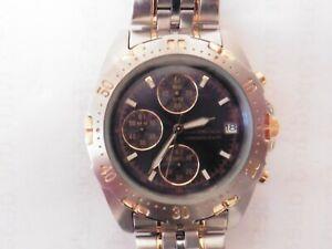 Gents CHRONOGRAPH Pulsar Watch Vintage 90s Day Date Original Strap V657-X021