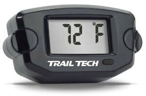 TTO Trail Tech Temperature Gauge Black 14mm Paramotoring & Powered Paragliding