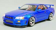 Custom RC 1/10 Drift NISSAN SKYLINE R34 AWD Belt CAR Blue w/ 5 Star RTR