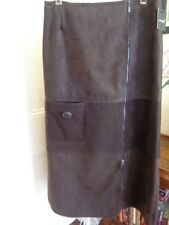 BROWN LONGER LENGTH WINTER WEIGHT SKIRT BY ANIMALE