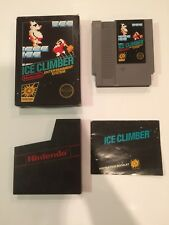 Nintendo Ice Climber, NES, Complete In box, Free Shipping Great condition.