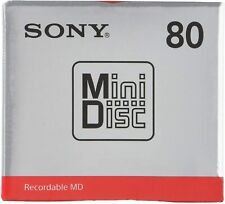 More details for 1x sony blank recordable minidisc  - 80 mins - mdw80t - uk seller - new sealed