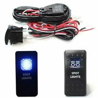 2-Output Relay Wiring Harness w/ LED Spot Lights LED Light Switch For Fog Lamp