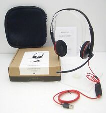 Plantronics Blackwire C3220 Stereo USB-A Over-the-Head Computer UC Headset - NEW