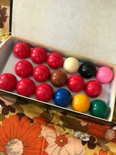 Set Hansinburg Snooker Balls Vintage MIB Made in Belgium Billiards Pool