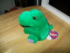 "Swibco Puffkins "" Pickles ""  the Dinosaur  8-17-97 Plush beanbag  animal,tags"