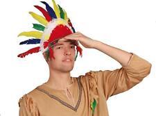 ** indio Tocado Plumas Adulto Fancy Dress Novedad Nuevo **