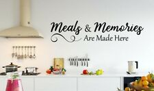 MEALS MEMORIES MADE HERE Kitchen Cafe Dining Vinyl Wall Decal Decor Words Quote