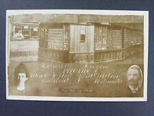 Rainier Oregon Post Office Interior Nutt & McMilan Real Photo Postcard RPPC 1916