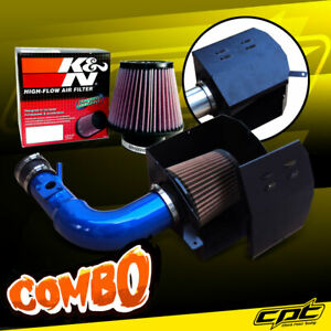 For 13-20 Scion FRS BRZ 2.0L 4cyl Blue Cold Air Intake + K&N Air Filter