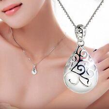 925 SILBER Halsketten Opal Anhänger Mondstein Katzenauge Damenschmuck Collier