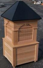 (1)Cupola beautIful 36''x78'&# 039;h cedar Old Style louvered cupola,up to 12/12 pitch