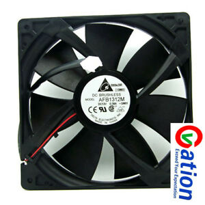 For DC 12V 0.38A 2Wie Case axial Cooling Fan Delta 13525 AFB1312M 13.5cm 135mm