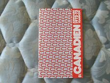 1972-73 MONTREAL CANADIENS MEDIA GUIDE YEARBOOK 1973 NHL CHAMPIONS! Program AD