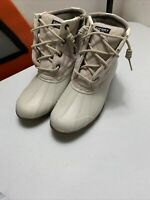 Nwob - Women's Sperry Top Sider Saltwater Rose oatmeal Duck Boots Size 6.5