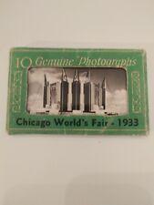 1933 Chicago World's Fair -10 GENUINE PHOTOGRAPHS