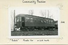 5D087 RP 1930s TOLEDO OHIO COMMUNITY TRACTION CO RAILWAY PRIVATE CAR 'TORLEJO'