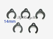 "5 PCS 14mm 9/16"" Plastic Clips for Cable Management RC Fuel/Air Line TH021-01203"