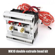 BIQU 12v Mk10 Dual Head Extruder+metal X AXIS,FOR REPRAP 3D PRINTER PART