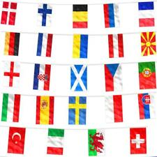 EURO 2020 2021 BUNTING 10M POLYESTER COUNTRY INTERNATIONAL FLAGS DECORATION