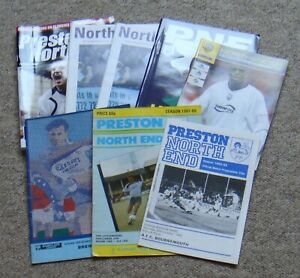 8 Preston North End Home Football Programmes – 1982-2008 – All Listed